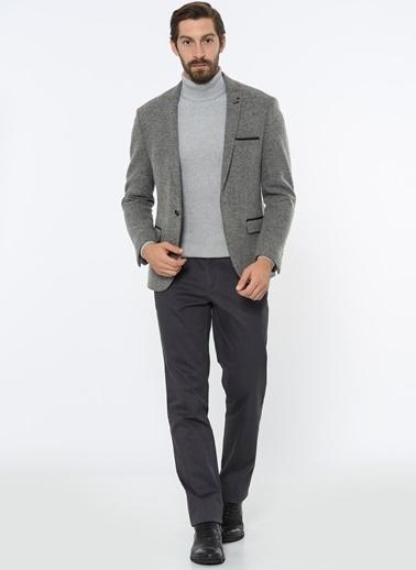 Comienzo Slim Fit Blazer Ceket Gri